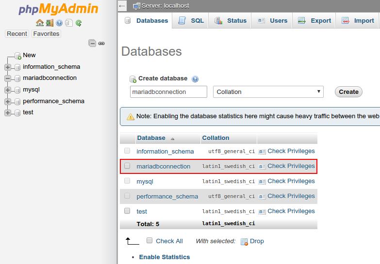 MariaDB - Java Connection - Knowledgebase - CloudJiffy