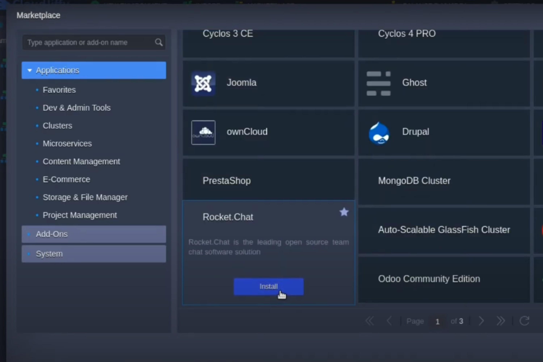 Rocket.Chat in CloudJiffy